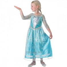 Costum de carnaval Elsa Premium S (3-4 ani/max 104cm) Rubies, Bleu
