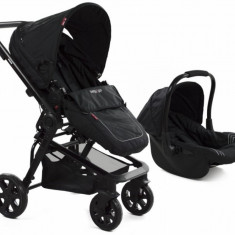 Carucior 3 in 1 transformabil BabyGo Black MyKids - Carucior copii 3 in 1