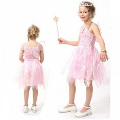 Costum pentru serbare Zana Elfilor 128 cm Fries, Roz