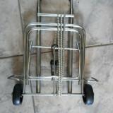 Carucior,metalic,pliant,pentru transportat bagaje,valiza,etc.