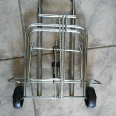 Carucior, metalic, pliant, pentru transportat bagaje, valiza, etc. - Troler