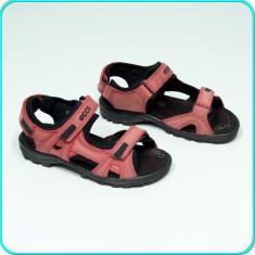 DE FIRMA → Sandale PIELE, comode, aerisite, usoare, calitate ECCO → fete | nr 31 - Sandale copii Ecco, Marime: 32, Culoare: Burgundy, Piele naturala