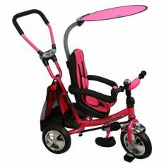 Tricicleta copii cu scaun reversibil Safari WS611 Pink Baby Mix