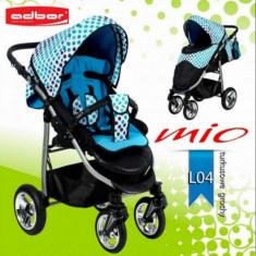 Carucior sport Mio Special Edition L04 (Turcoaz cu Buline) Adbor - Carucior copii Sport Adbor, Albastru