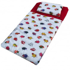 Sac de dormit Buzunar 190 cm Rosu cu Vacute colorate Deseda - Lenjerie pat copii