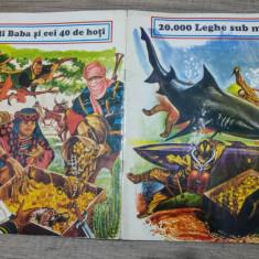 20000 leghe sub mari + Ali Baba si cei 40 hoti/ cu ilustratii - Carte de povesti