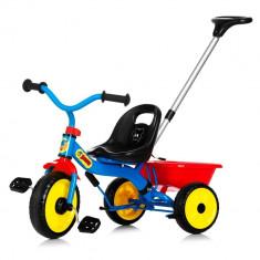 Tricicleta cu maner Bamse Nordic Hoj - Tricicleta copii, Multicolor