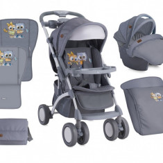 Carucior 3 in 1 Apollo Grey Baby Owls Bertoni - Carucior copii 3 in 1