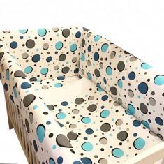 Lenjerie de pat 7 piese Maxi 120 x 60 cm Cerculete Albastre Deseda - Lenjerie pat copii Deseda, Verde