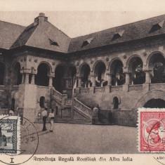 ALBA IULIA RESEDINTA REGALA ROMANA FOTOGRAVURA CARTEA ROMANEASCA - Carte Postala Transilvania dupa 1918, Necirculata, Printata