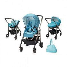 Carucior Trio Loola Excel Mosaic Blue Bebe Confort - Carucior copii 3 in 1 Bebe Confort, Albastru