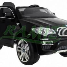 Masinuta BMW X6 metalizata cu acumulator si telecomanda Negru Ramiz - Masinuta electrica copii
