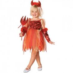 Costum de carnaval Demonita M (5-7 ani/max 132 cm) Rubies, Rosu