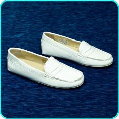 Mocasini / pantofi dama, piele, usori, comozi, ANDREA MANUELI → femei | nr. 40 - Mocasini dama, Culoare: Alb, Piele naturala