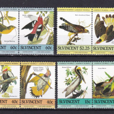 St. Vincent 1985 fauna pasari MI 790-797 MNH w45 - Timbre straine, Nestampilat