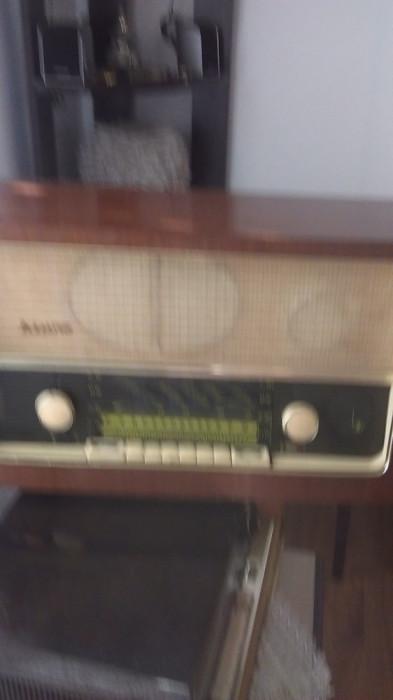 Aparat Radio pe lampi  Stern Bernau/Nauen Berlin foto mare