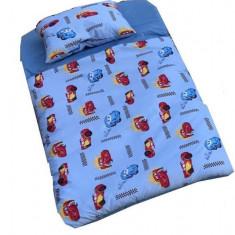 Sac de dormit Buzunar 160 cm Cars Albastru Deseda - Lenjerie pat copii
