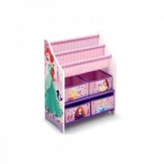 Organizator carti si jucarii cu cadru din lemn Disney Princess Delta Children