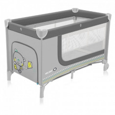 Patut pliabil cu 2 nivele Holiday Grey Baby Design - Patut pliant bebelusi