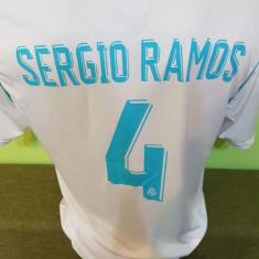 TRICOU SERGIO RAMOS REAL MADRID MARIMI XS, S, M, L, XL - Tricou echipa fotbal, Culoare: Din imagine
