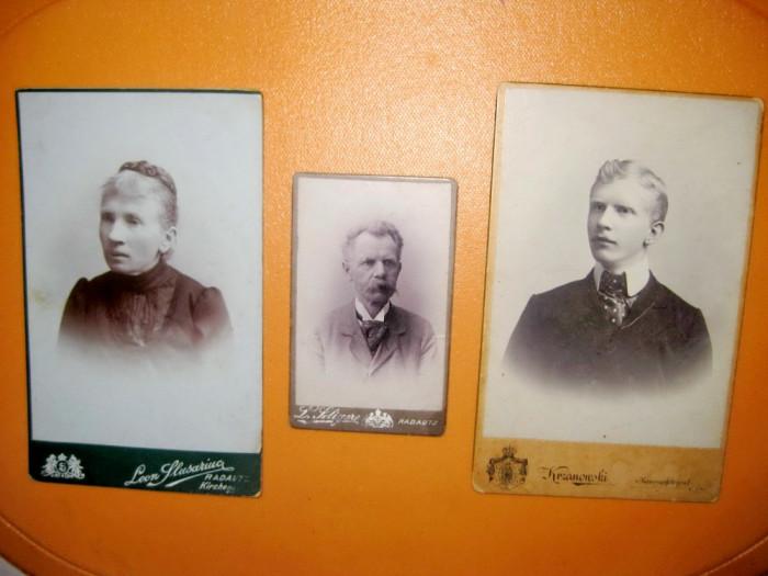 3 Kabinet foto Radauti-Chisinau anii cca 1900. foto mare