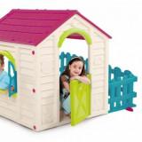 Casuta Garden House Alb cu roz Europlast - Casuta copii, Plastic
