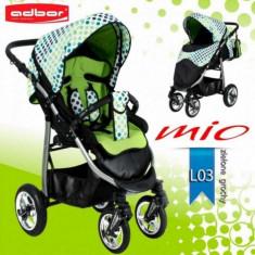 Carucior sport Mio Special Edition L03 (Verde cu Buline) Adbor - Carucior copii Sport Adbor, Albastru