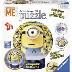 Puzzle 3D Minions cu Lumina 72 piese Ravensburger - Jocuri arta si creatie