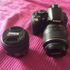 Nikon D3100 body + obiectiv kit + obiectiv Nikon 50mm f1.8 - Aparat Foto Nikon D3100