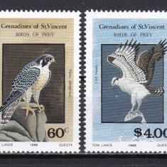 St. Vincent 1986 fauna pasari MI 510-513 MNH w45 - Timbre straine, Nestampilat