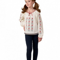 Ie fetite 104 4 ani (104 cm) Elfbebe - Costum populare, Alb