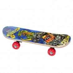 Skateboard pentru copii, 60 cm, lemn, Marime: 50