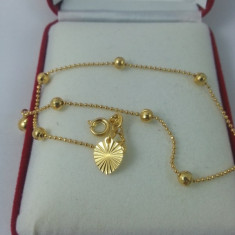Bratara glezna dublu placata aur 24K Cod produs: BRP 3 - Bratara placate cu aur, Femei