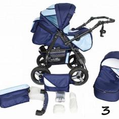 Carucior 2 in 1 Twist-R 3 (Bleumarin cu Bleu) Kerttu - Carucior copii 2 in 1