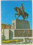 Bnk cp Cluj Napoca - Statuia lui Mihai Viteazul - uzata, Circulata, Printata