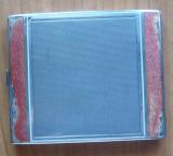Tabachera din argint , interbelica , email ; 143 grame