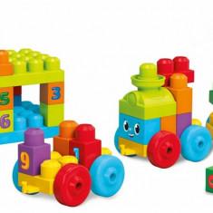 Trenulet cu numere Mega Bloks Fisher Price - Jucarie interactiva