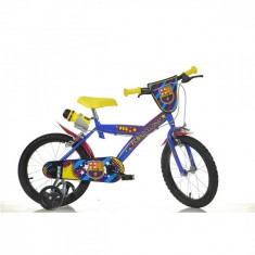Bicicleta 14 inch FC Barcelona Dino Bikes - Bicicleta copii Dino Bikes, Albastru