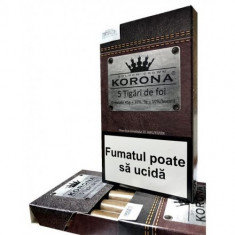 Tutun pentru rulat/injectat Korona sub forma de tigari de foi-45 grame