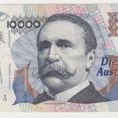 ARGENTINA 10000 australes ND 1989 VF - bancnota america