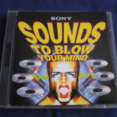 Various - Sounds To Blow You're Mind _ dublu cd, compilatie _ Sony (UK) - Muzica Pop sony music