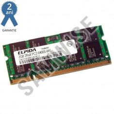 Memorie 2GB ELPIDA DDR2 800MHz SODIMM pentru Laptop Notebook GARANTIE 2 ANI ! - Memorie RAM laptop