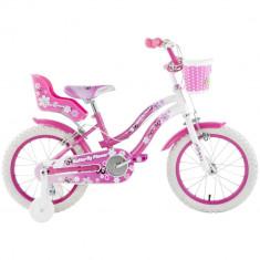 Bicicleta copii Butterfly 14 inch Schiano Kids, Roz