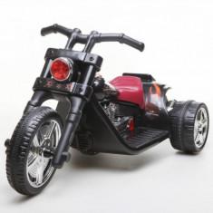 Motocicleta tip Harley cu acumulator DKT01 Negru Ramiz - Masinuta electrica copii
