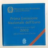 ITALIA - Set Monetarie 2002 - Prima serie Euro, Europa