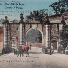 ALBA IULIA, POARTA I a A CETATII CIRCULATA 1917 - Carte Postala Transilvania dupa 1918, Printata