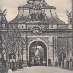 ALBA IULIA POARTA a III a A CETATII (POARTA CAROL DE SUS POARTA PRINCIPALA) - Carte Postala Transilvania pana la 1904, Circulata, Printata