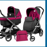 Pachet Promo Carucior 3 in 1 Book Plus 51 Black Pop-Up + Baza Isofix Gratuit Fleur Peg Perego - Set mobila copii