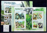 Uganda - primates 2815/8+bl.380