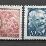 Ungaria 1950 serie deparaiata, Stampilat